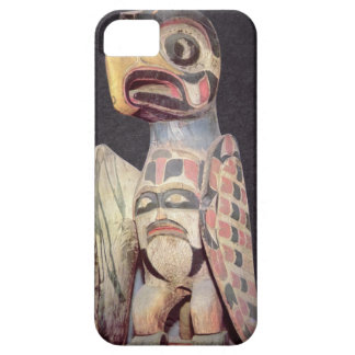Haidaの「雷鳥」の彫像(色彩の鮮やかな木) iPhone SE/5/5s ケース