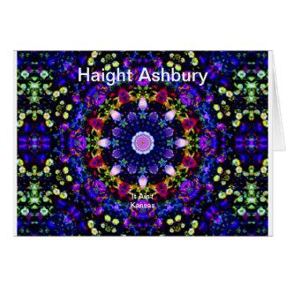 Haight Ashburyのサイケデリックなヒッピーのファッションの芸術 カード