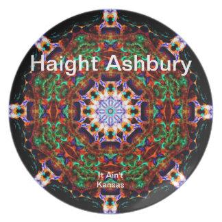 Haight Ashburyのサイケデリックなヒッピーのファッションの芸術 プレート