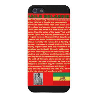 Haile Selassie国連1963年への有名な戦争のスピーチ iPhone 5 Cover