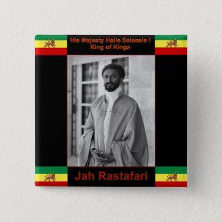 Haile Selassie Judah、Jah Rastafariのライオン 缶バッジ