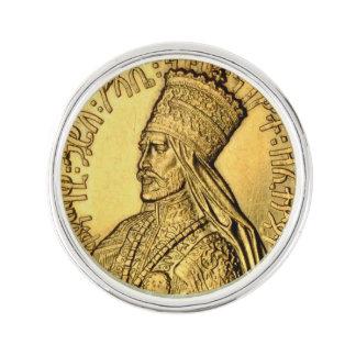 Haile Selassie Lapel Pin Ancient Gold Design ラペルピン