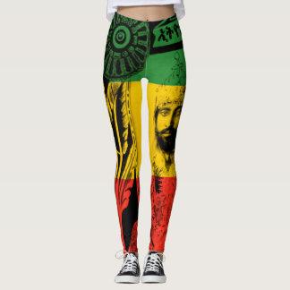Haile Selassie Leggings Lion of Judah Design レギンス
