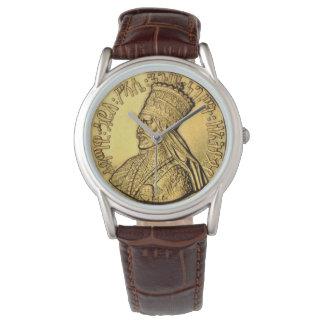 Haile Selassie Watch Ancient Golden King Design 腕時計