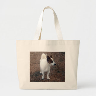 Hairy_Fox_Terrier、_ ラージトートバッグ