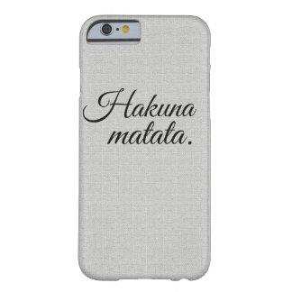 Hakunaのmatata Barely There iPhone 6 ケース