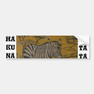 Hakuna Matataのアフリカのサファリはイメージをカスタマイズ バンパーステッカー