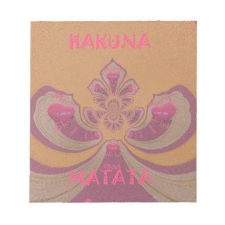 Hakuna Matataのメリークリスマスの美しいハートのデザイン ノートパッド