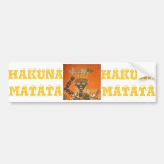 Hakuna Matataのヴィンテージの女性 バンパーステッカー