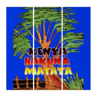Hakuna Matataケニヤの美しい青空 トリプティカ