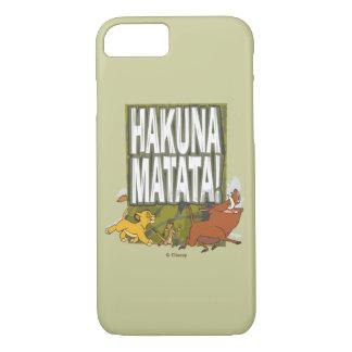 Hakuna Matataディズニーのライオン王! iPhone 8/7ケース