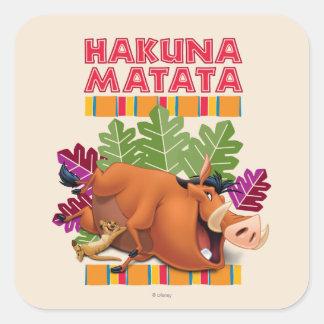 Hakuna Matata スクエアシール