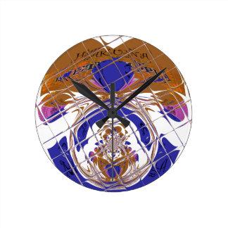 Hakuna Matata I愛エチオピア色design.png ラウンド壁時計