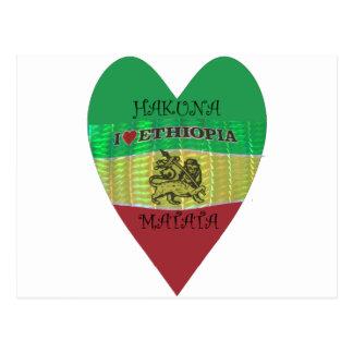 Hakuna Matata I愛エチオピアColors.png ポストカード
