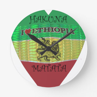 Hakuna Matata I愛エチオピアColors.png ラウンド壁時計