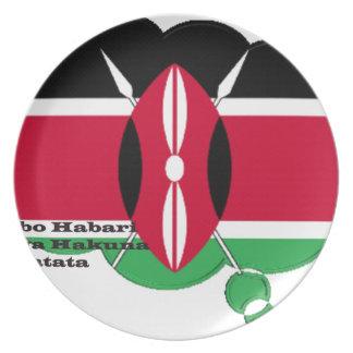 Hakuna Matata Jambo Habari パーティー皿