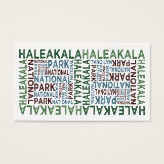 Haleakalaの国立公園 名刺