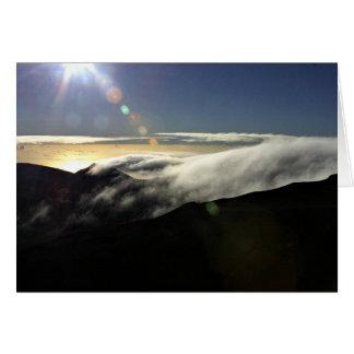 Haleakalaの金夜明け カード
