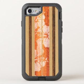 Haleiwaのサーフボードのヴィンテージのハワイの模造のな木 オッターボックスディフェンダーiPhone 8/7 ケース