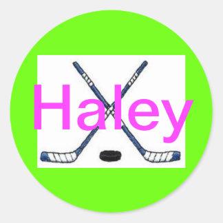 Haleyのカスタムのステッカー ラウンドシール