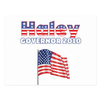Haleyの愛国心が強い米国旗2010の選挙 ポストカード