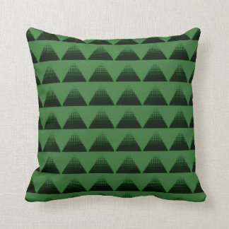 Half-Tone Triangles Green クッション