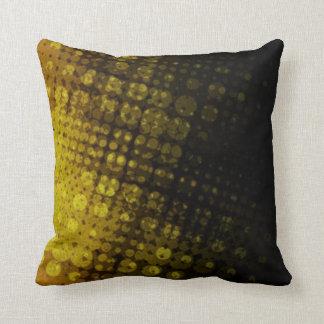 Halftonのポップ・アートので暗いオリーブ色の枕 クッション