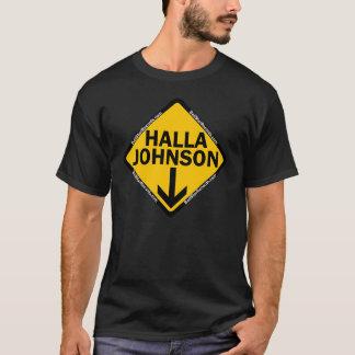 Hallaジョンソンのワイシャツの黒 Tシャツ