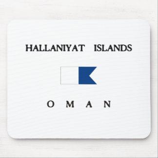 Hallaniyatの島のオマーンのアルファ飛び込みの旗 マウスパッド