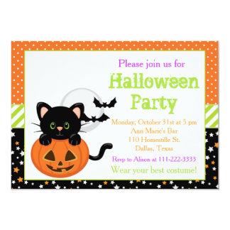 Halloween Black Cat and Pumpkin カード