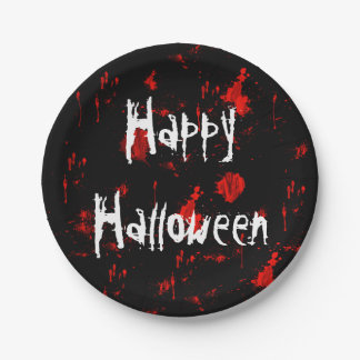 Halloween Blood Splatter Paper Plate ペーパープレート