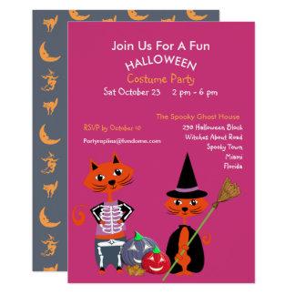 Halloween Costume Party Editable Cute Fun Invite カード