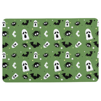 Halloween cute pattern フロアマット
