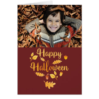 Halloween Folded Photo Greeting Card カード