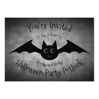 Halloween potluck party family カード