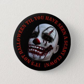 Halloween Spooky Clown Button 5.7cm 丸型バッジ