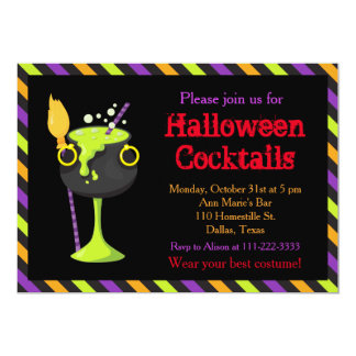 Halloween Spooky Cocktails Party カード