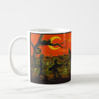 "Halloween trick or treat-er mug ""Halloween Parade"" コーヒーマグカップ"