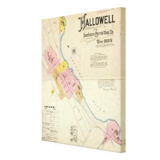 Hallowell、Kennebec郡およびメイン キャンバスプリント