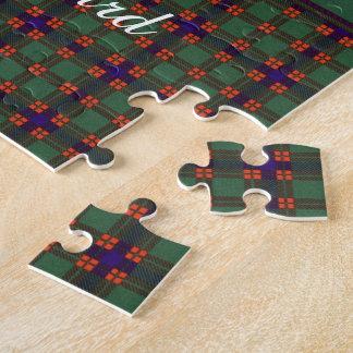 Hallyardの一族の格子縞のスコットランドのキルトのタータンチェック ジグソーパズル