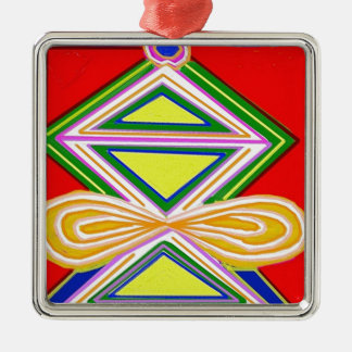HALU HALOO Karunaの霊気-三脚の三角形の記号 メタルオーナメント
