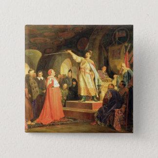 Halych-VolhyniaのRoman王子 5.1cm 正方形バッジ