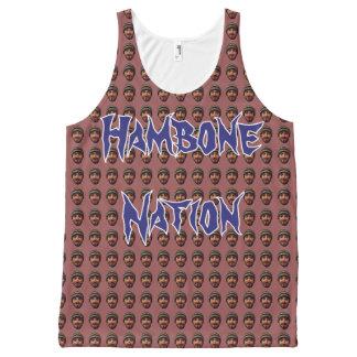 Hamboneの国家Bruh Tenk オールオーバープリントタンクトップ