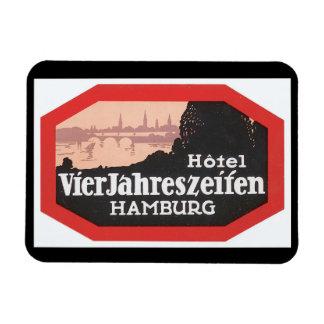 Hamburg_Vintage旅行ポスターアートワーク マグネット