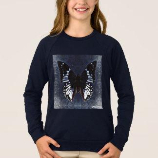 HAMbWG -子供のTシャツ-海軍蝶 スウェットシャツ