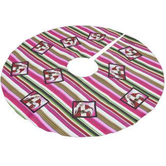 HAMbWG - Christmas Tree Skirt - Santa Claus ブラッシュドポリエステルツリースカート