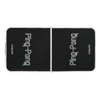HAMbyWGの黒くか白い卓球台 ビアポンテーブル