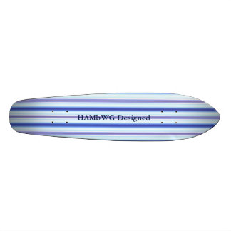 HAMbyWGは- Saketeboard -稲妻のストライプを設計しました 19.7cm スケートボードデッキ