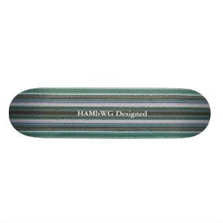 HAMbyWG -スケートボード-青緑色ヒップスター 20cm スケートボードデッキ