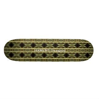 HAMbyWG -スケートボード-黒い稲妻 スケボーデッキ